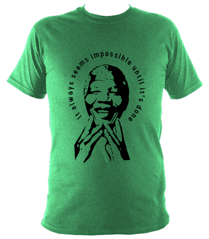 Nelson Mandela Quote T-shirt, Mens, Irish Green