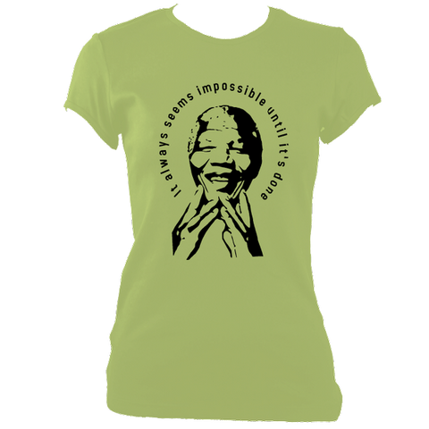 Nelson Mandela Quote T-shirt, Womens, Kiwi