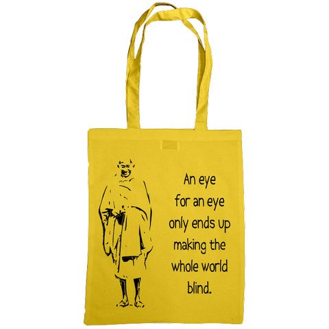 Mahatma Gandhi Quote Bag, Yellow