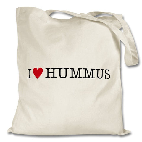 I Love Hummus Bag, White
