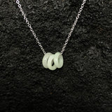 Three Ring Jade Necklaces