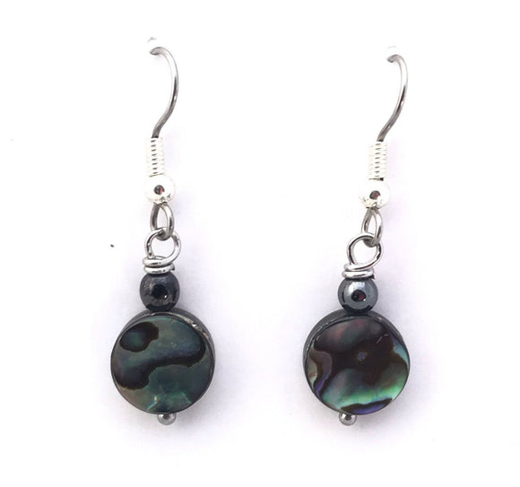 Abalone Shell Dangle Earring