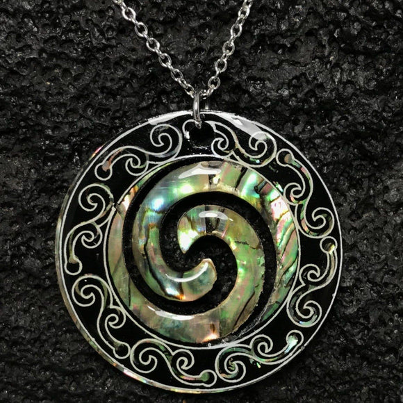 Abalone Shell Swirl Necklace