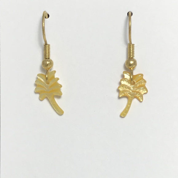 Coconut Tree Gold Earrings