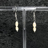 Freshwater pearl Dangle Earrings - Lite Salmon Pink