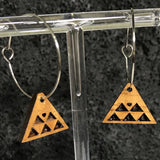 Koa Wood Triangel / Mountain Insired Earrings