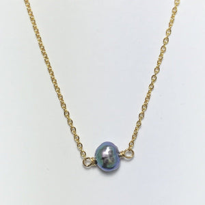 Pearl small Petite Gold Necklace
