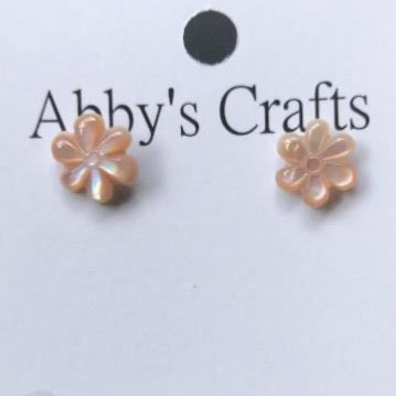 Pink Stud Tiare Flower Earrings