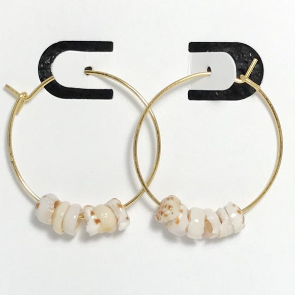 Puka Shell Gold Hoop