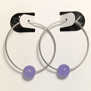 Purple Jade Hoop Earrings