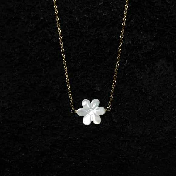 Tiare Flower Gold Necklaces