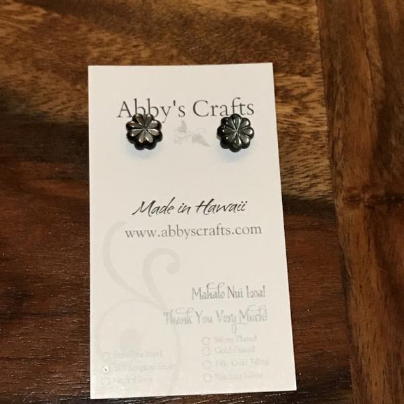 Tiare Flower Stud Earrings - 10mm