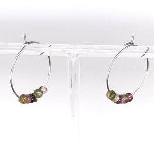 Tourmaline Hoop Earrings