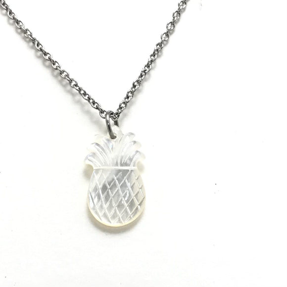 White Pineapple silver Necklace