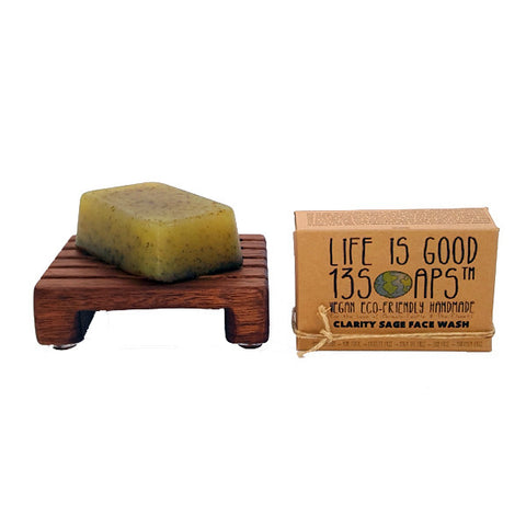 Clary Sage Oil Soap & Ground Sage Powder Soap Face Wash