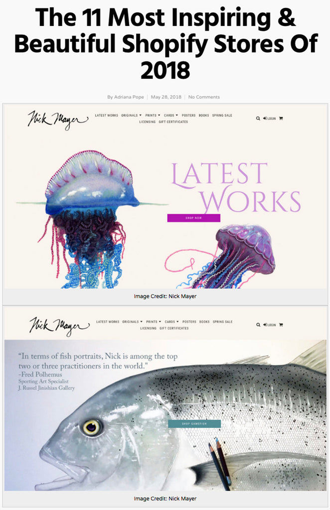 Ado Labs Best fish art 11 Shopify Stores website of 2018