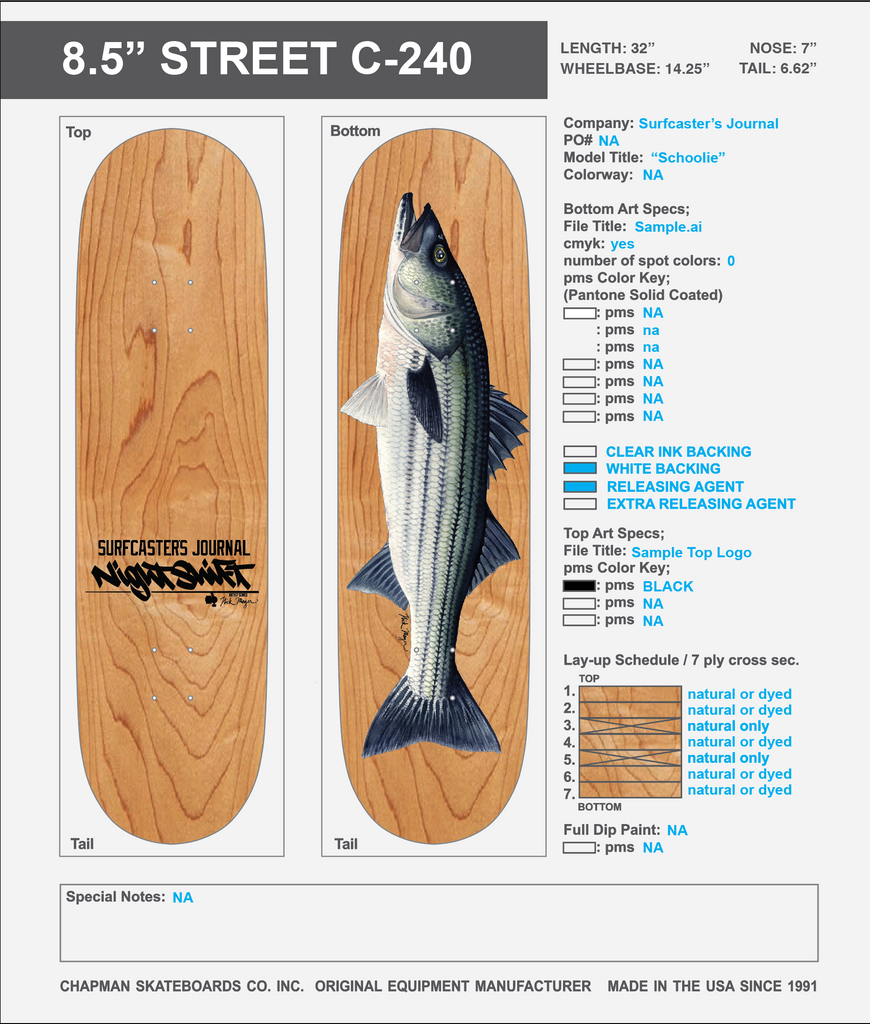 Striped Bass Skateboard