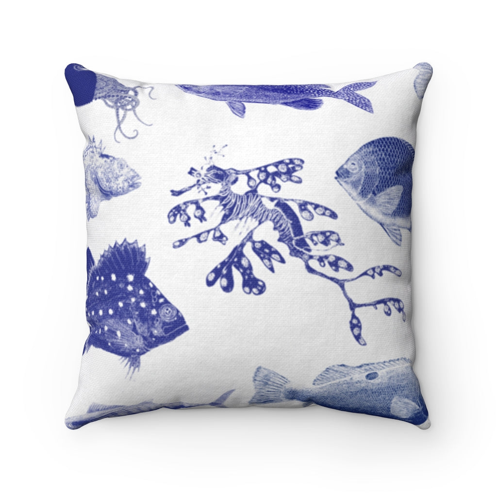 Ocean Stamps Throw Pillow