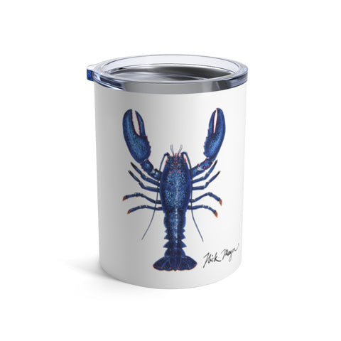 Blue Lobster 3, 10 oz Steel Tumbler