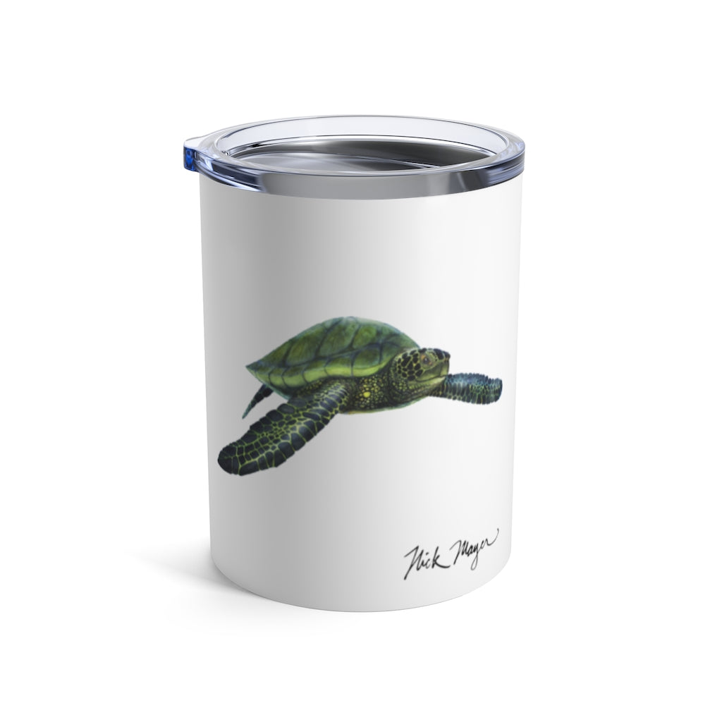 Green Sea Turtle, 10 oz Steel Tumbler