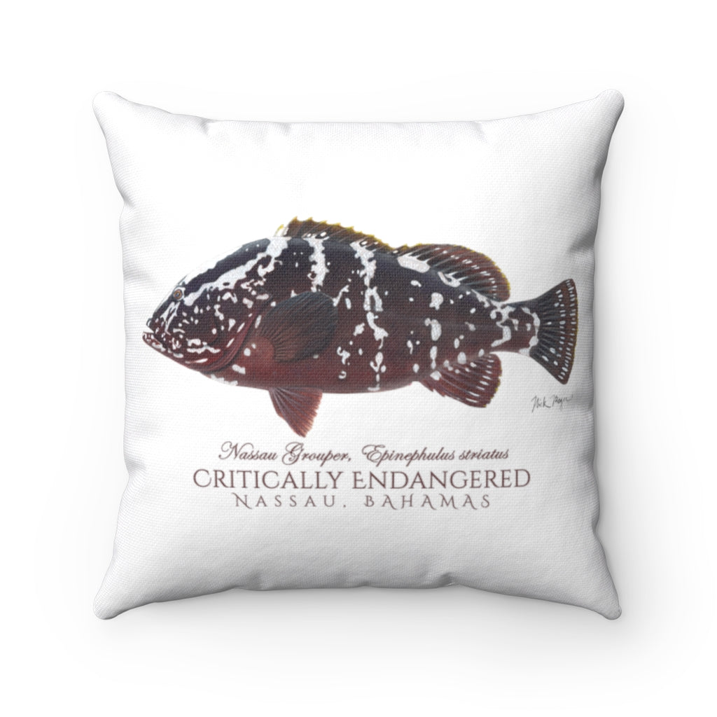 Nassau Grouper Throw Pillow