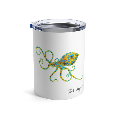 Blue Ringed Octopus, 10 oz Steel Tumbler