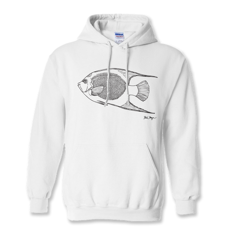Queen Angelfish Drawing Warm Hoodie