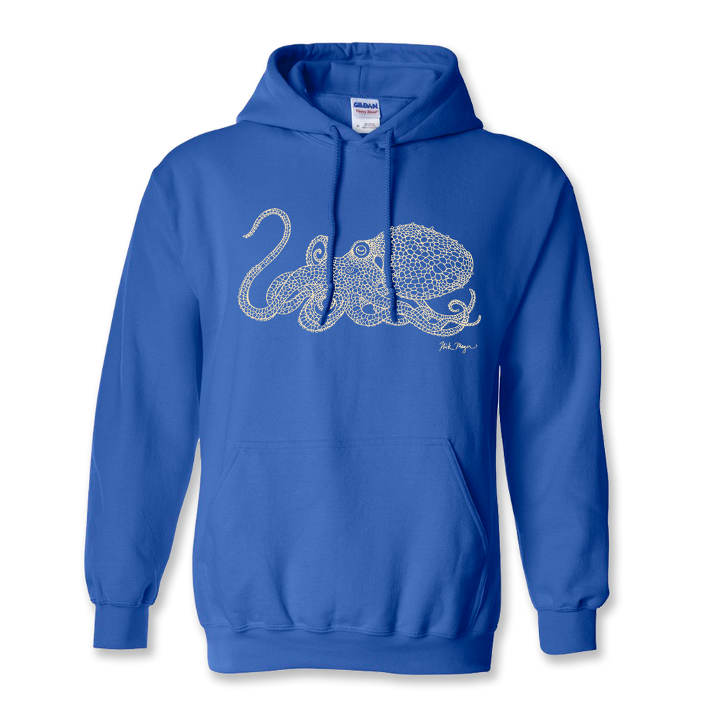 Octopus Drawing Warm Hoodie
