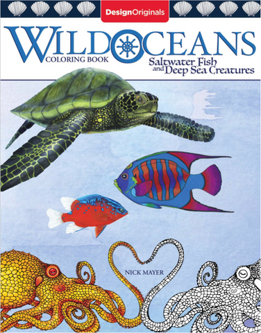 Wild Oceans Coloring Book, Signed by Nick Mayer