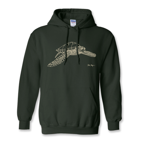 Sea Turtle Drawing Warm Hoodie
