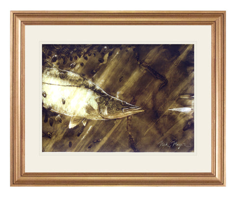 Snook and Deceiver Original Watercolor Painting