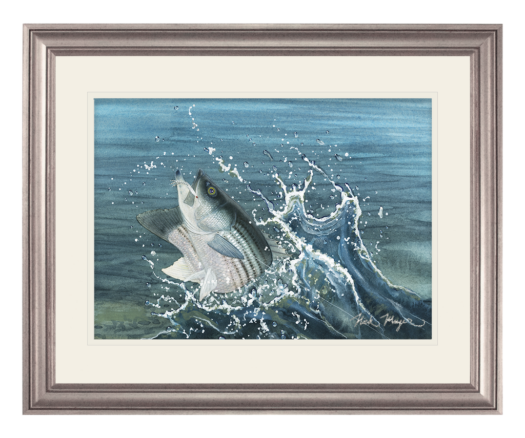 Launching Striper and Deceiver Original Painting  SOLD