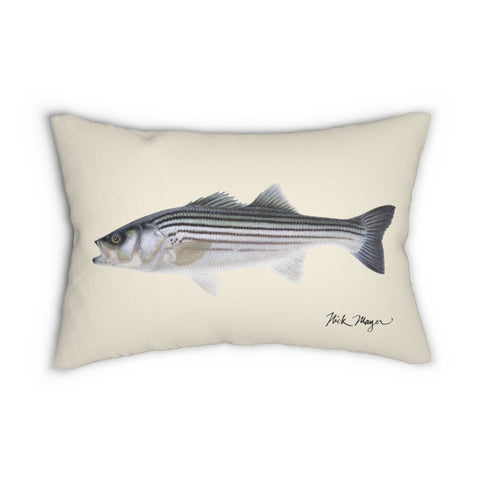 Schoolie Striper Throw Pillow