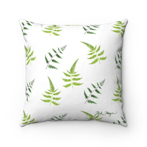 White Ferns Throw Pillow
