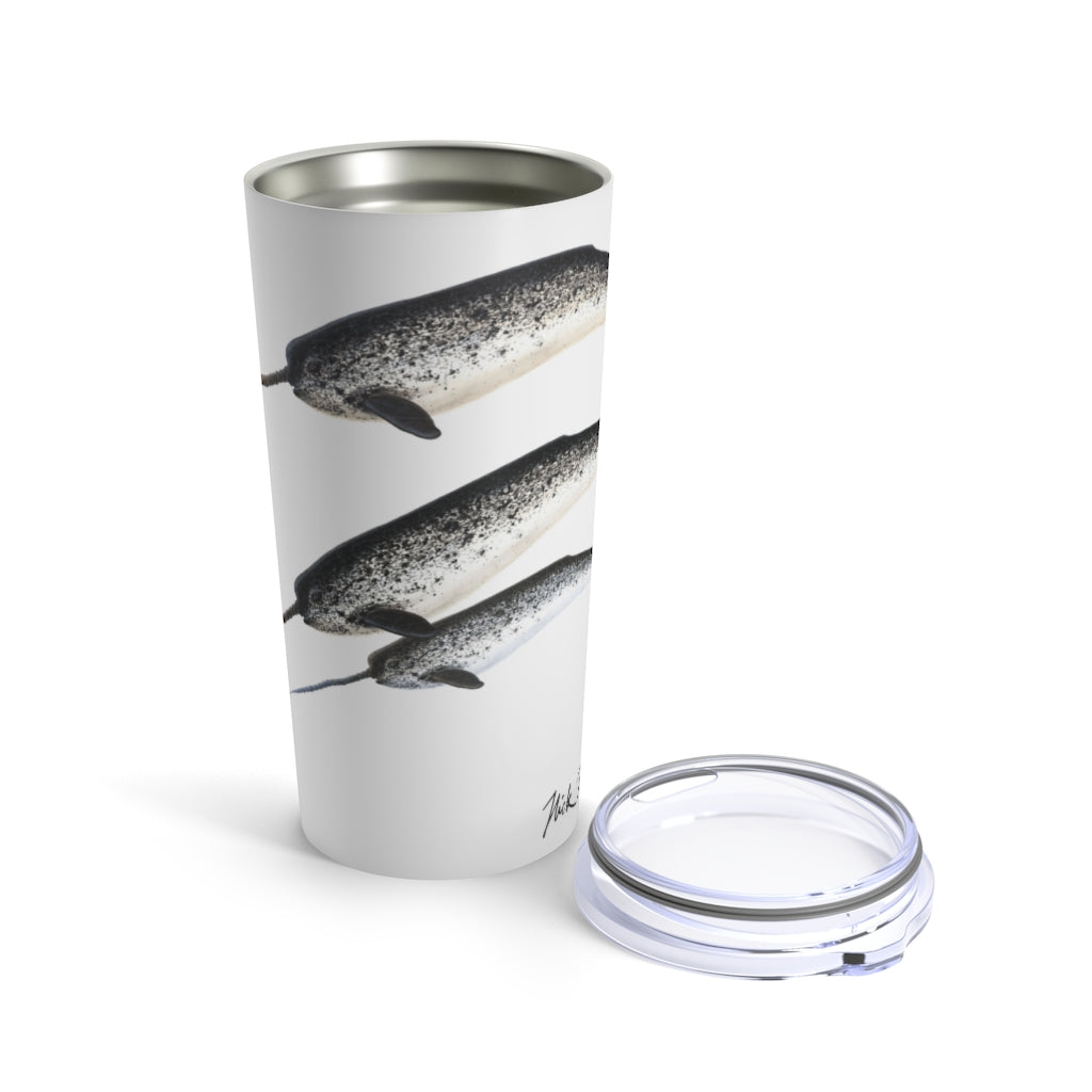 Narwhal Family, 20 oz Steel Tumbler