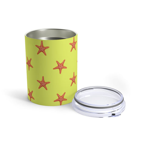 Yellow Starfish, 10 oz Steel Tumbler
