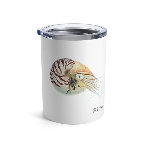 Chambered Nautilus, 10 oz Steel Tumbler
