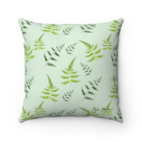 Green Ferns Square Pillow