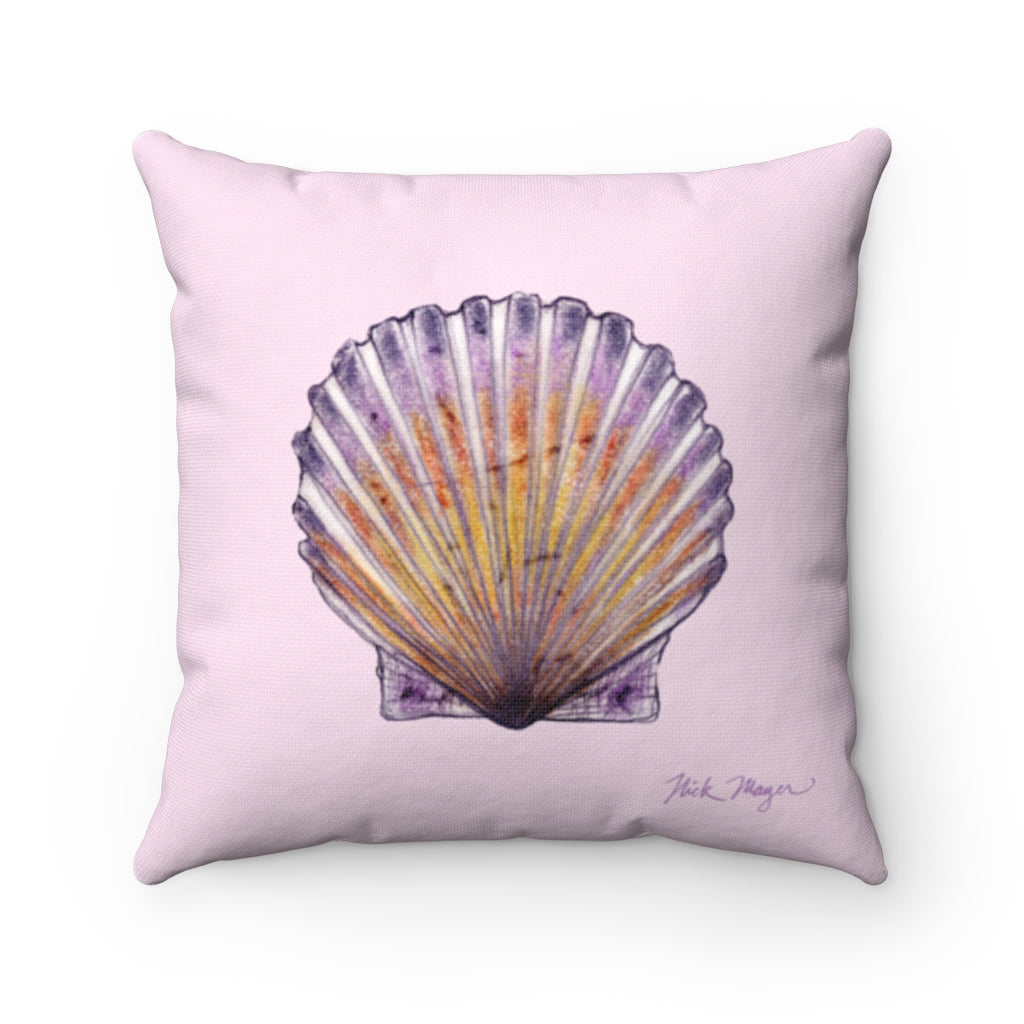Pink Scallop Throw Pillow