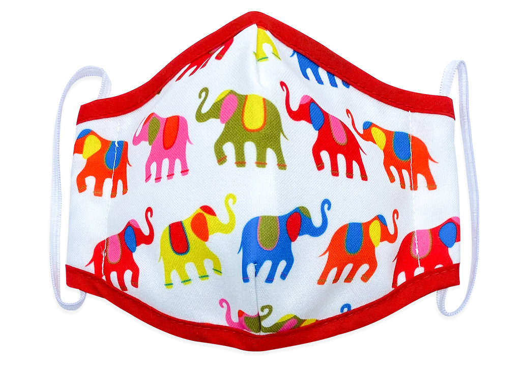 Reusable Face Mask Painted Elephants
