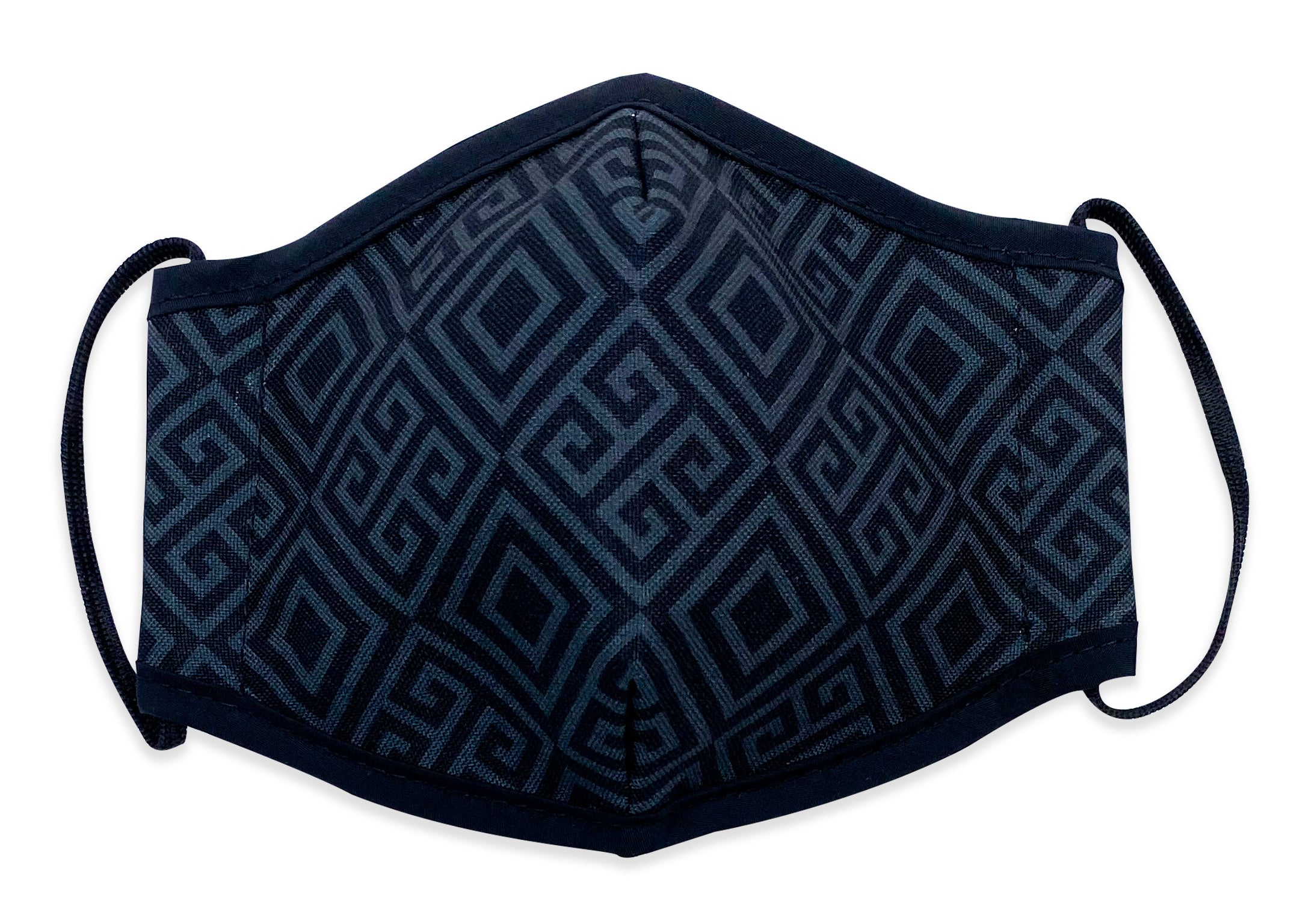 Reusable Face Mask Black Pattern
