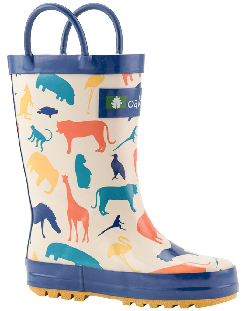 Animal Kingdom Loop Handle Rubber Rain Boots