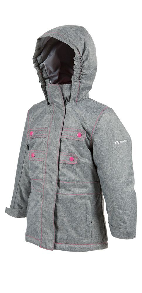 Light Gray & Pink Snow Ski Coat