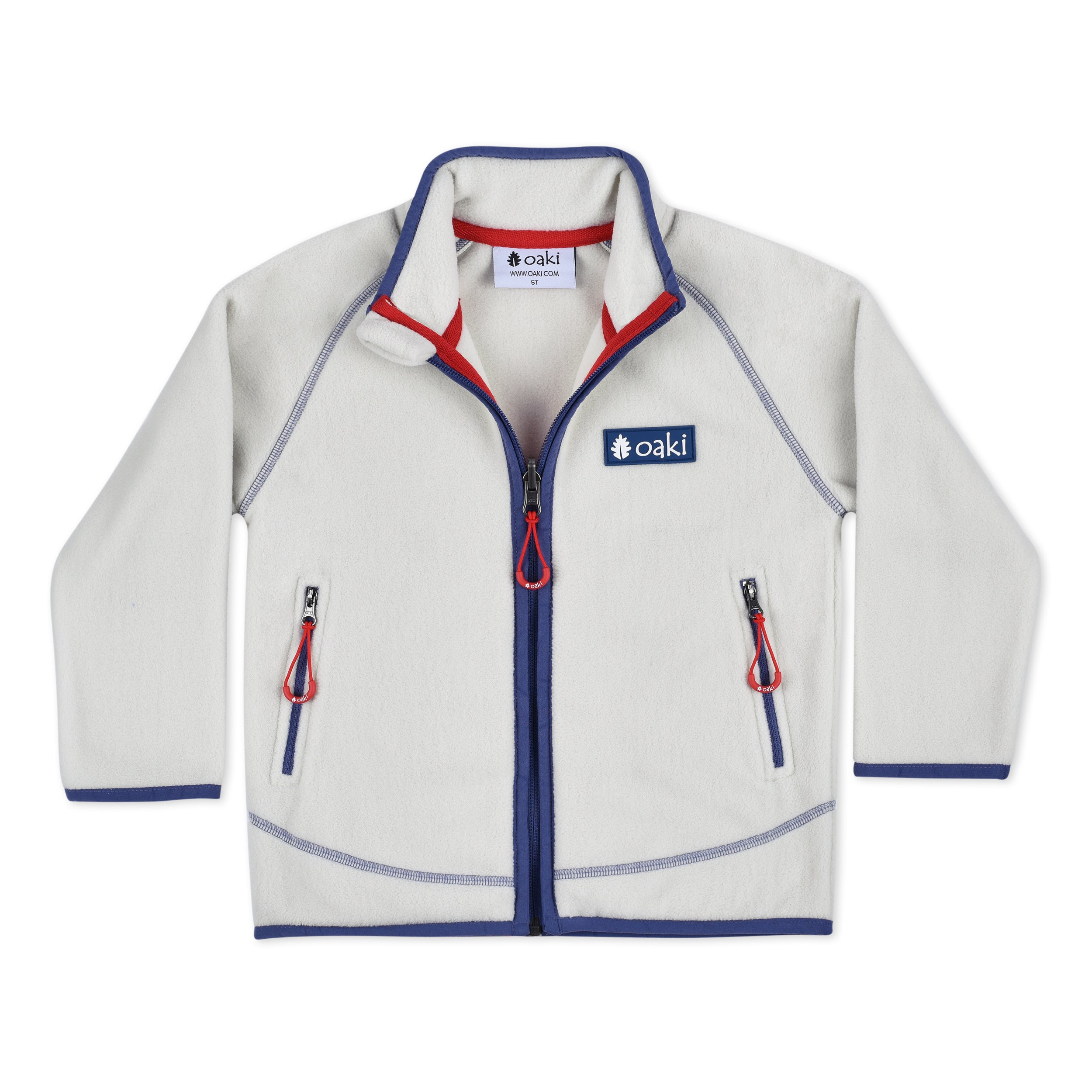 Premium Polartec® Fleece Jacket Oatmeal White by OAKI (Pre-order)