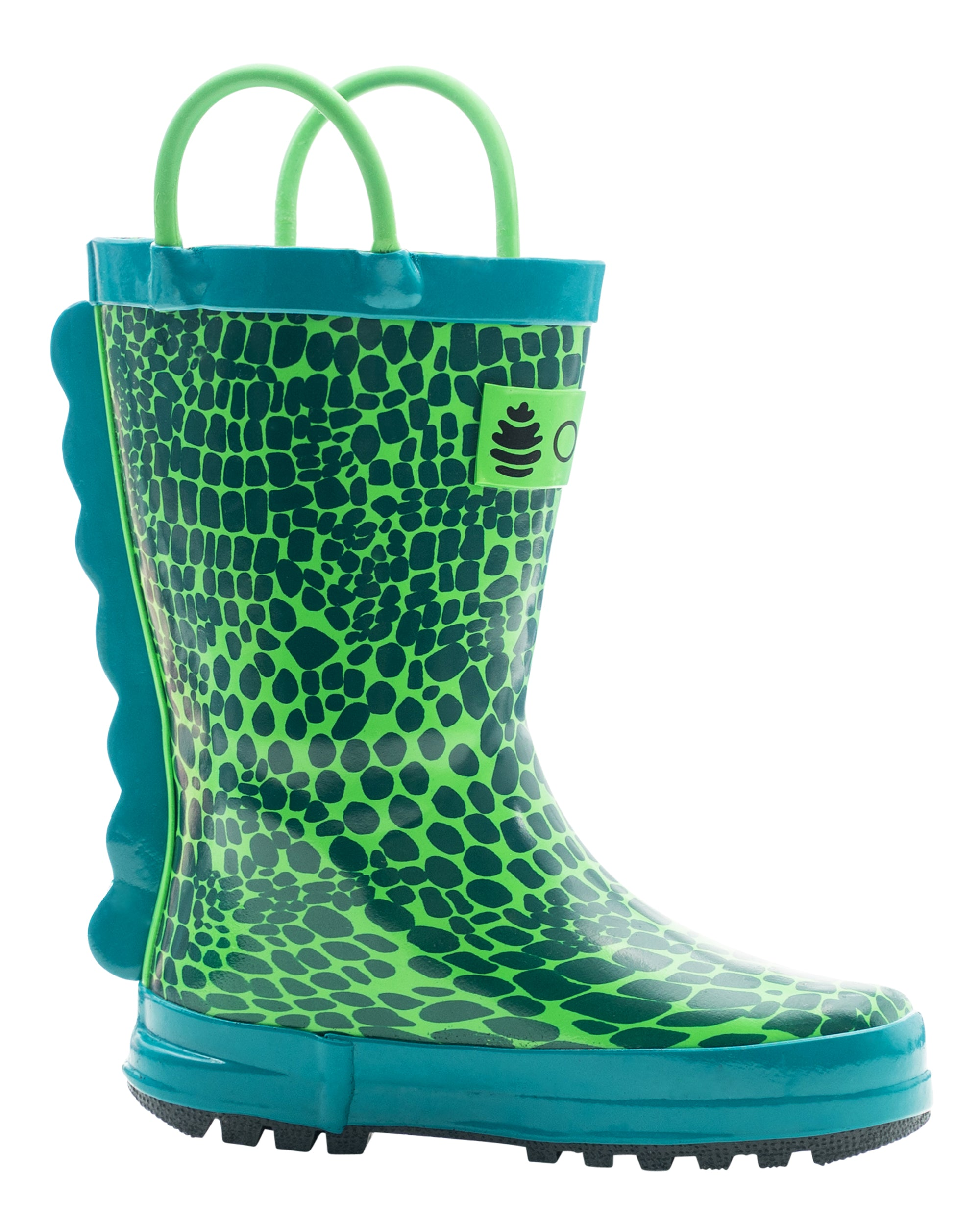 Scaley Monster Loop Handle Rubber Rain Boots