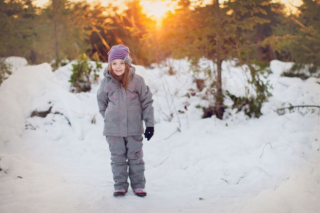Light Gray & Pink Snow Pants/Bibs