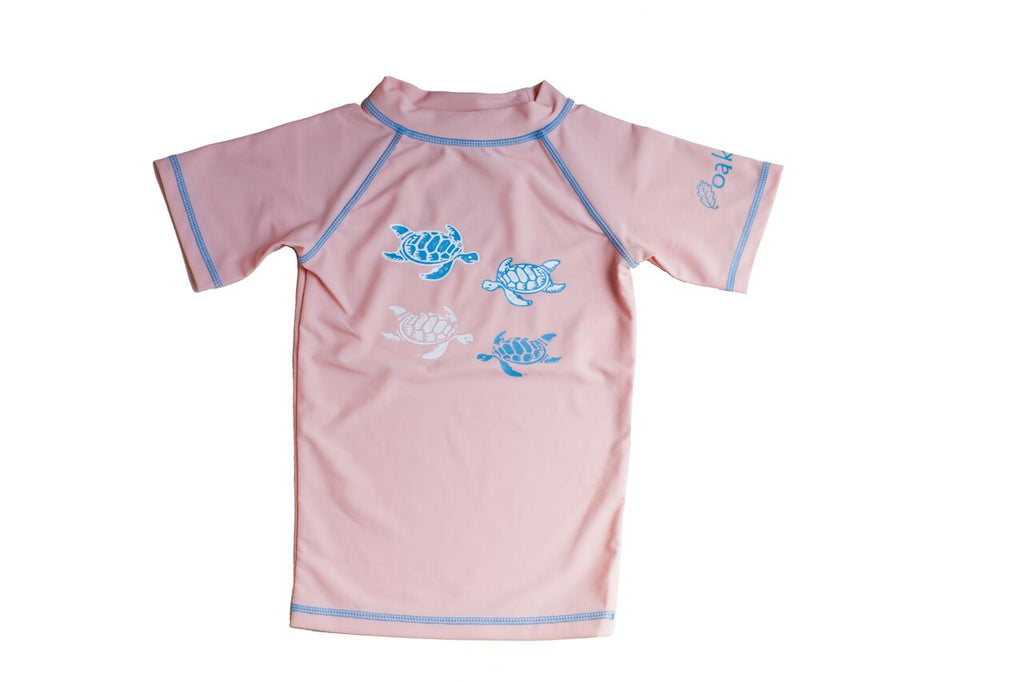 Pink Short Sleeve Rash Guard