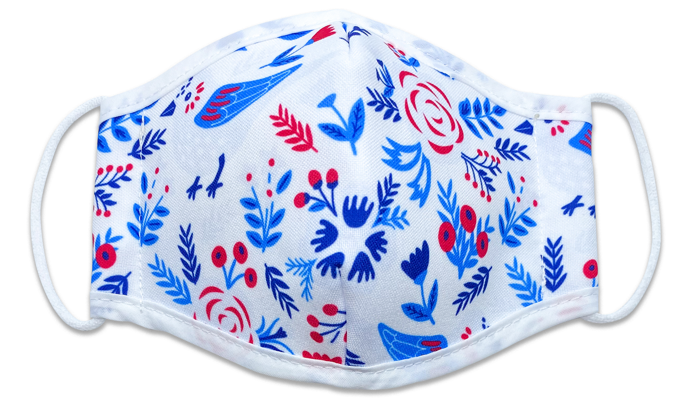 Reusable Face Mask Birds & Flowers
