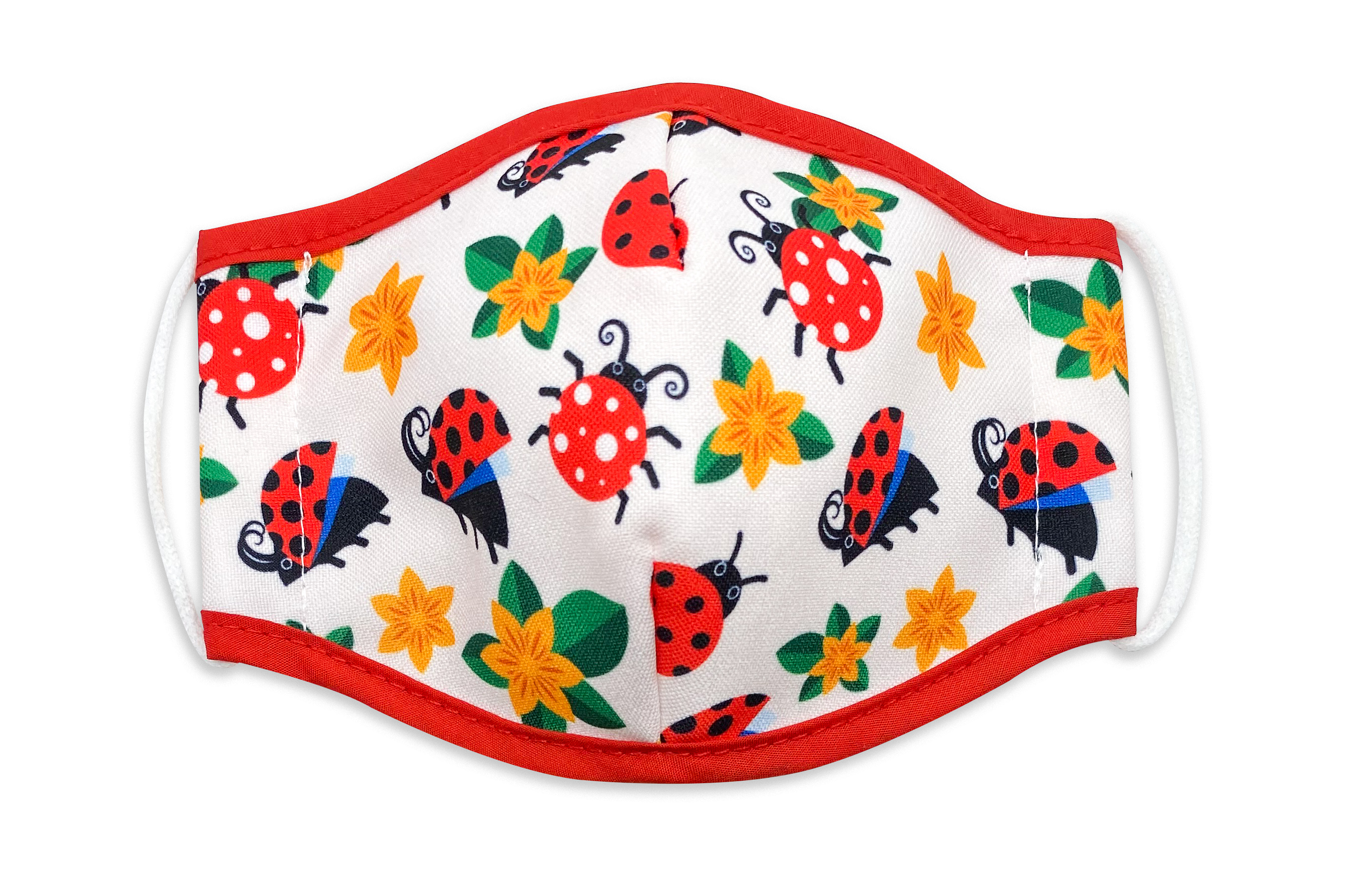 Reusable Face Mask Ladybugs & Flowers