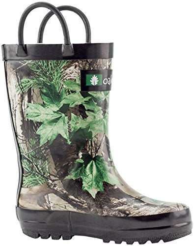 617b3a5a48363 Xtra Green Camo Loop Handle Rubber Rain Boots Xtra Green Camo Loop Handle  Rubber Rain Boots